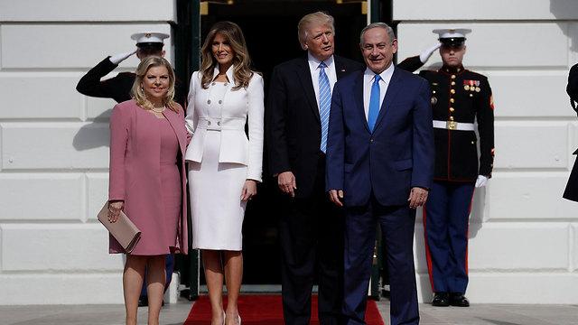 בני הזוג טראמפ ובני הזוג נתניהו (צילום: AP) (צילום: AP)