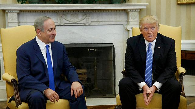 טראמפ ונתניהו בפברואר בבית הלבן (צילום: רויטרס)