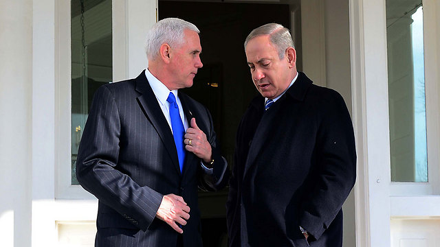 VP Pence (L) and PM Netanyahu will hold a working meeting (Photo: Avi Ohayon/GPO)