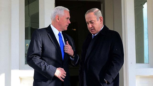 VP Mike Pence and PM Benjamin Netanyahu (Photo: Avi Ohayon/GPO)