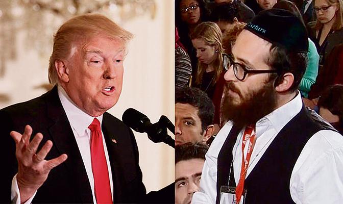 """""""יום לפני מסיבת העיתונאים הוא היה מאוד נחמד"""". ג'ייק טורקס ודונלד טראמפ"""