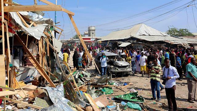 Car bomb at Wajajir market in Madina district of Somalia's capital Mogasishu (Photo: Reuters)