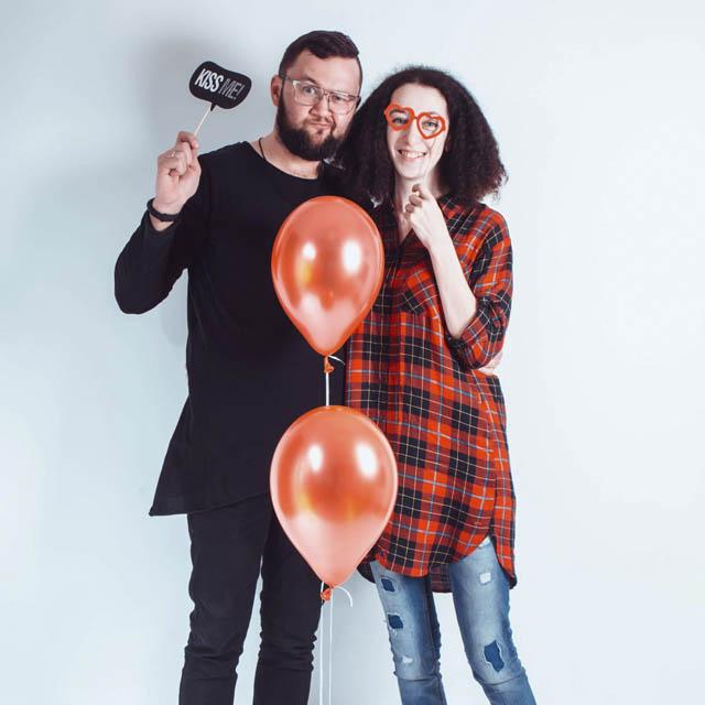 Саша Мочалова с мужем