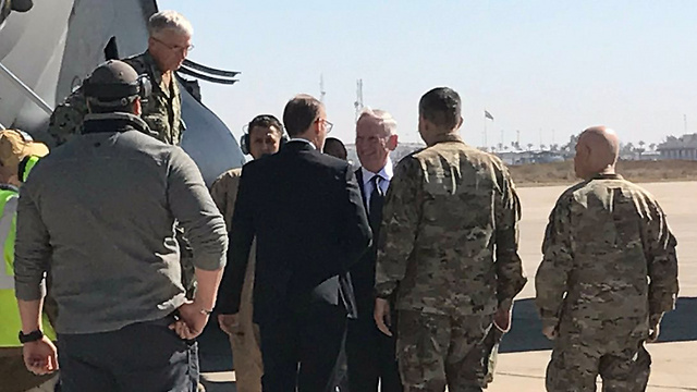 Mattis during a previous visit to Baghdad.