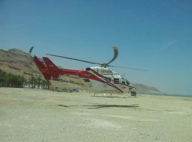 Вертолет МАДА на Мертвом море. Фото: МАДА (Фото: МАДА)
