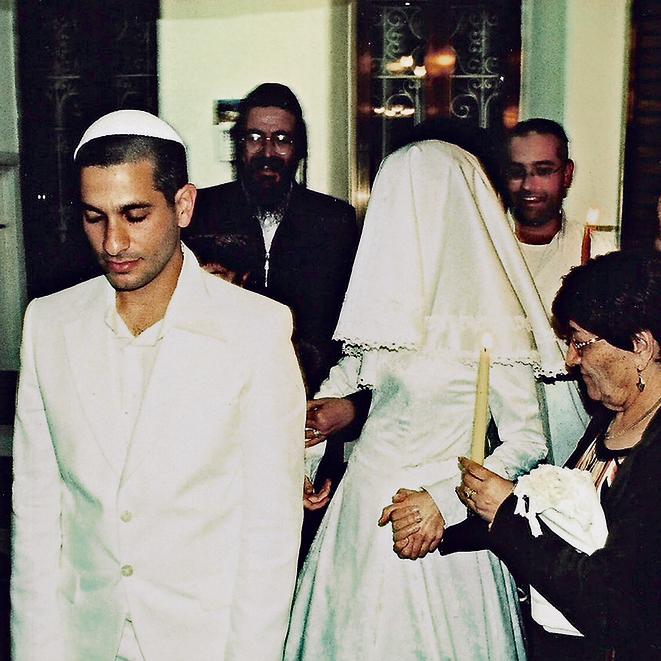 יום לפני החזרה שלה לניו-יורק החלטנו שהיא תישאר ונתחתן. בנאי ורות ביום חתונתם