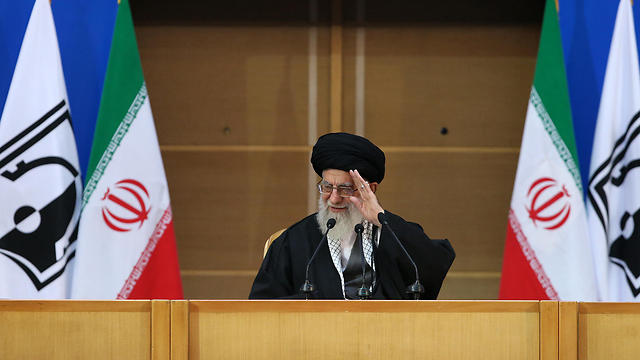 Iran's leader Ali Khamenei at an anti-Israel conference (Photo: AFP)