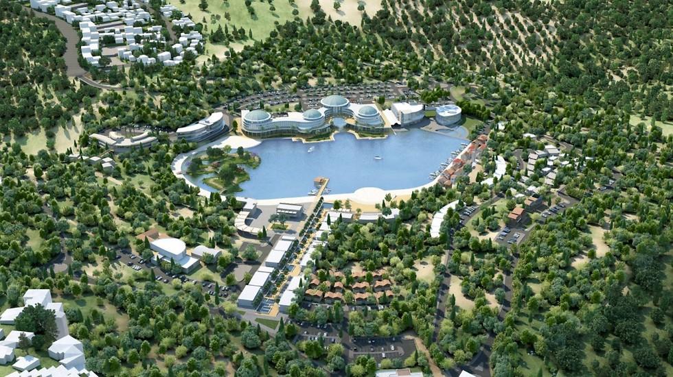 הדמיית פארק התיירות החדש (הדמיה: עיריית מעלות תרשיחא) (הדמיה: עיריית מעלות תרשיחא)