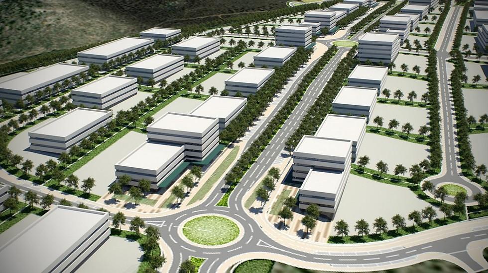 הדמיית אזור התעסוקה החדש (הדמיה: עיריית מעלות תרשיחא) (הדמיה: עיריית מעלות תרשיחא)