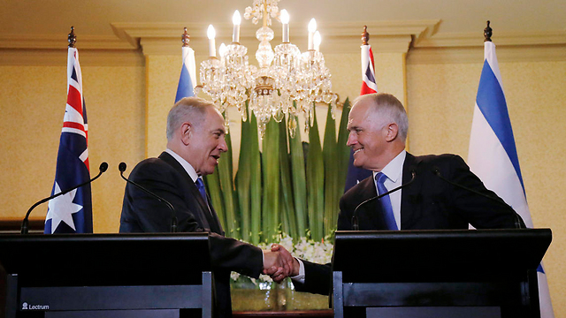 Prime Minister Malcolm Turnbull with PM Netanyahu (Photo: AP)
