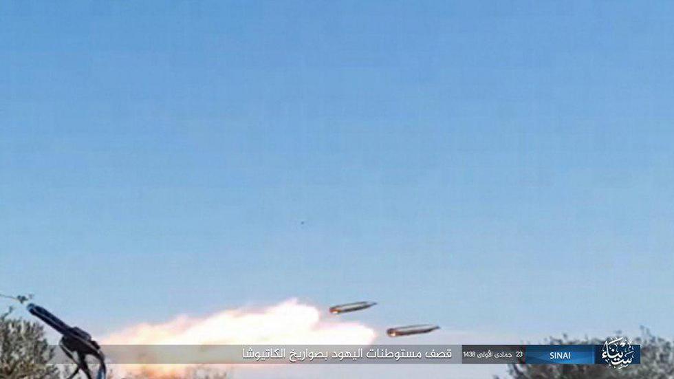 ISIS rocket launch toward Israel from Sinai