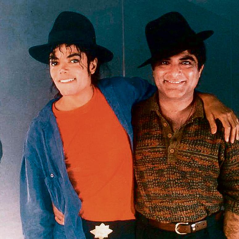 """עם מייקל ג'קסון. """"החברה לא הבינה אותו"""""""