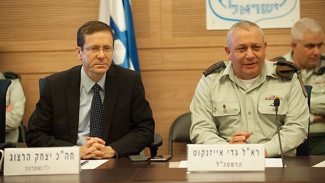 """הרמטכ""""ל בוועדת חוץ וביטחון היום (צילום: יואב דודקביץ')"""