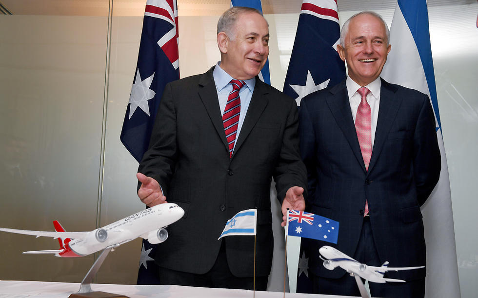 Netanyahu and Turnbull sign cooperation agreements (Photo: AP)