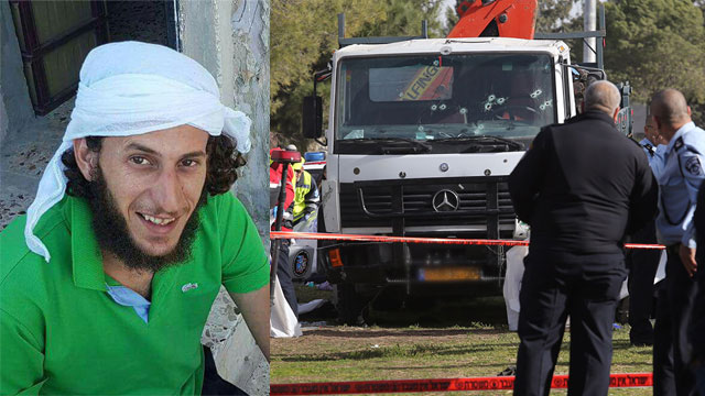The terrorist and the truck used in the attack