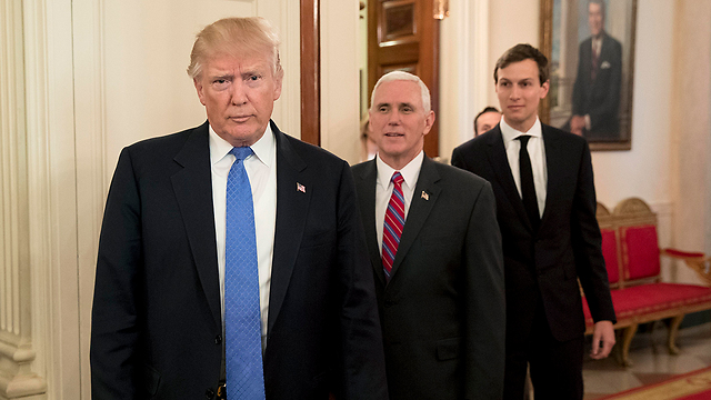 President Trump, VP Pence and Jared Kushner (Photo: EPA)