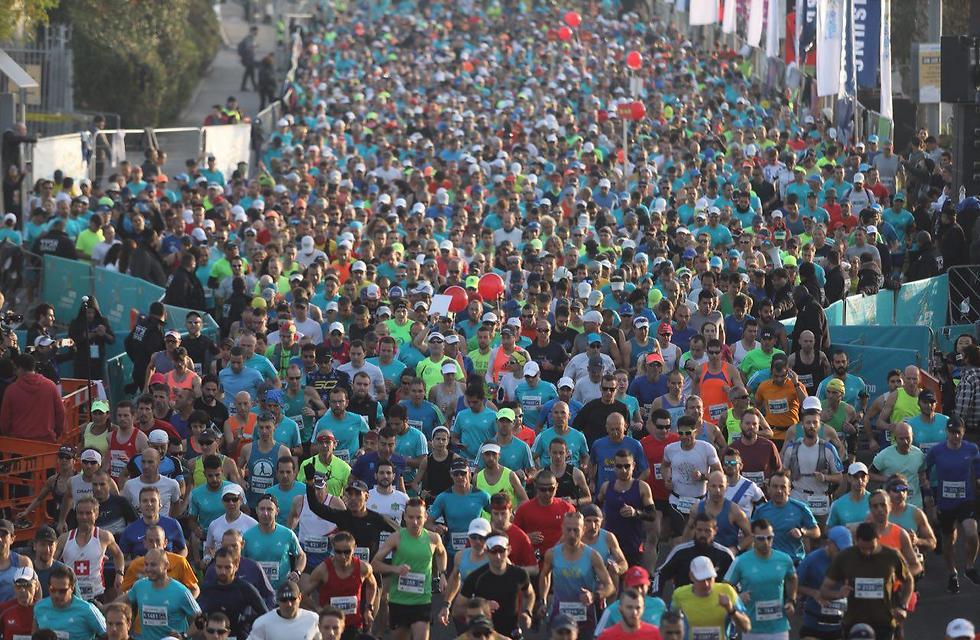 מרתון תל אביב בשנה שעברה (צילום: מוטי קמחי) (צילום: מוטי קמחי)