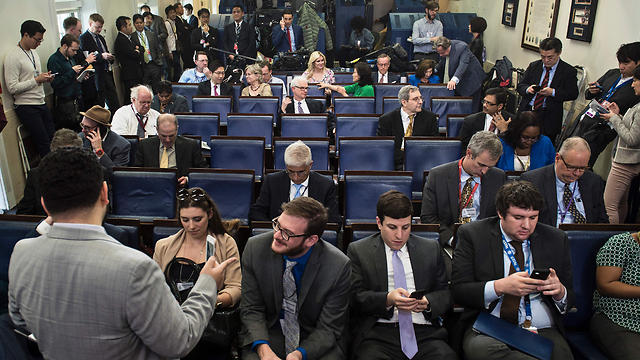 The White House press briefing (Photo: AFP)