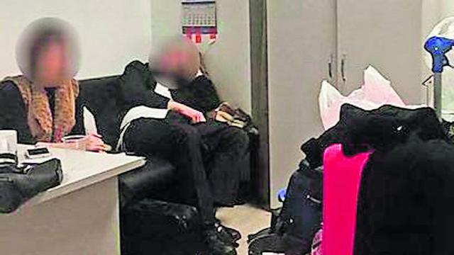 בני הזוג שנתפסו עם סמים בשדה התעופה בקייב (צילום: censor.net.ua)