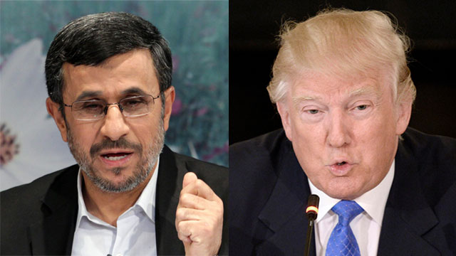 Ahmadinejad and Trump (Photos: MCT, EPA)