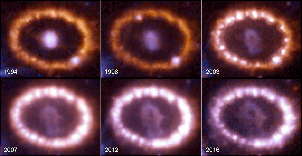 הסופרנובה במהלך השנים (צילום: AFP / NASA / ESA)