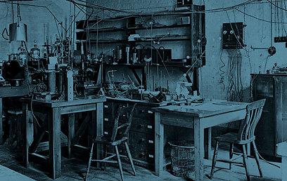 המעבדה של ארנסט רתרפורד (צילום: מתוך ויקיפדיה)