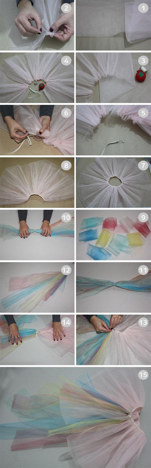 הכנת חצאית מטול (צילום: חני הרשקוביץ')