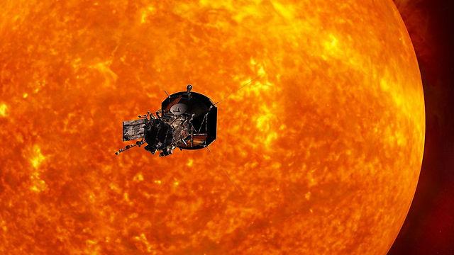 הדמיה של חללית, שאמורה לחקור את השמש (הדמיה: Johns Hopkins) (הדמיה: Johns Hopkins)