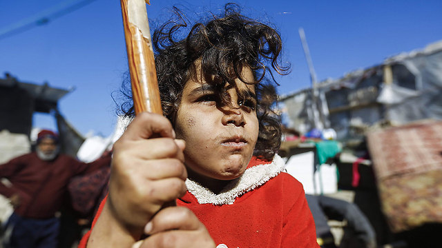 Poverty in Gaza, also on the rise (Photo: AFP)