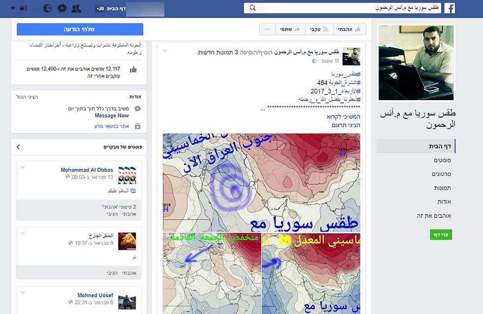 יותר מ-11 אלף עוקבים. עמוד הפייסבוק של החזאי האלטרנטיבי