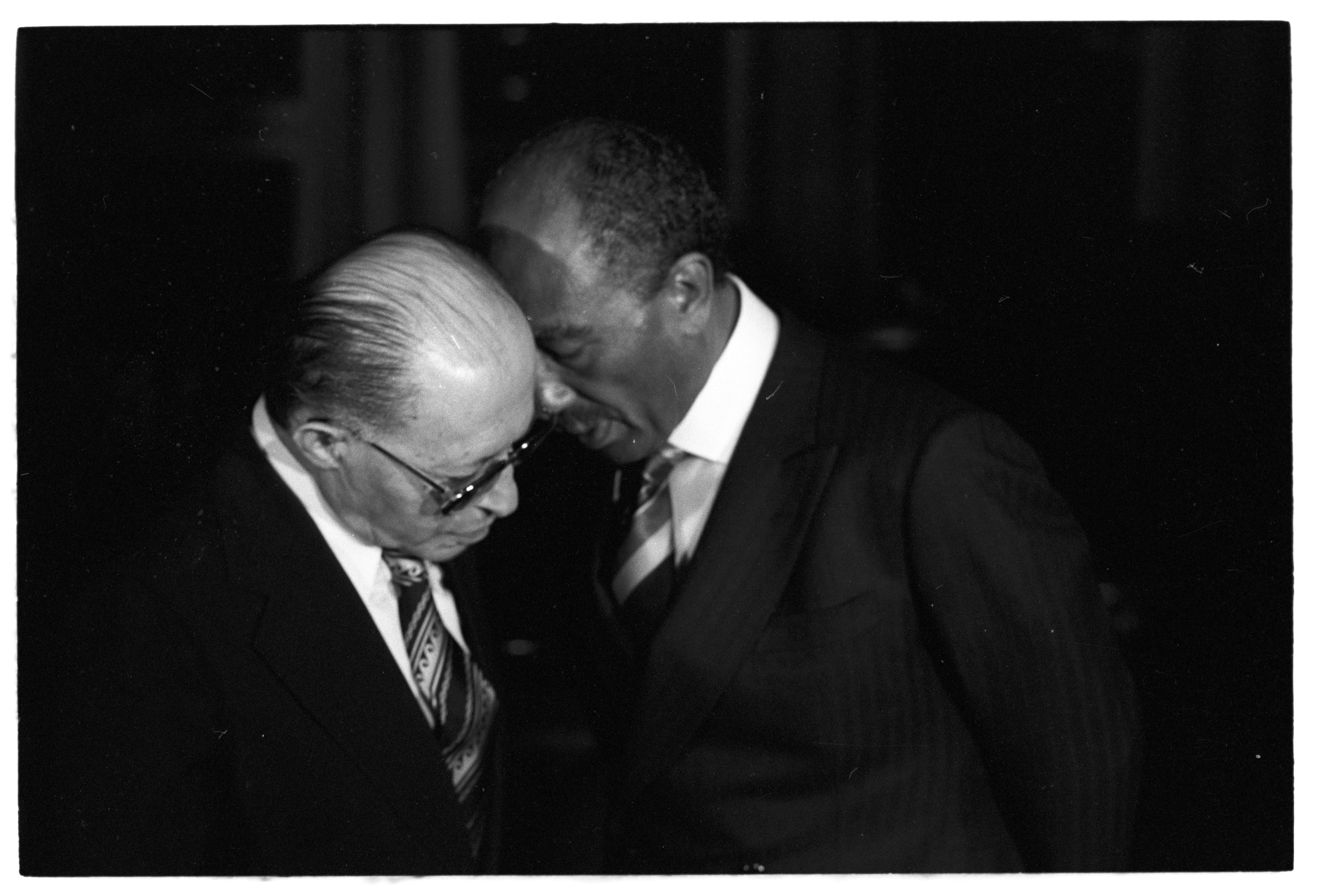 אנואר סאדאת, נשיא מצרים ומנחם בגין לאחר הסכם השלום עם מצרים
