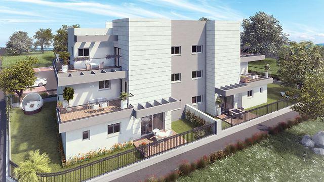 """מתוך הדמיית שכונות המגורים החדשות של """"גלעד מאי"""" (הדמיה) (הדמיה)"""