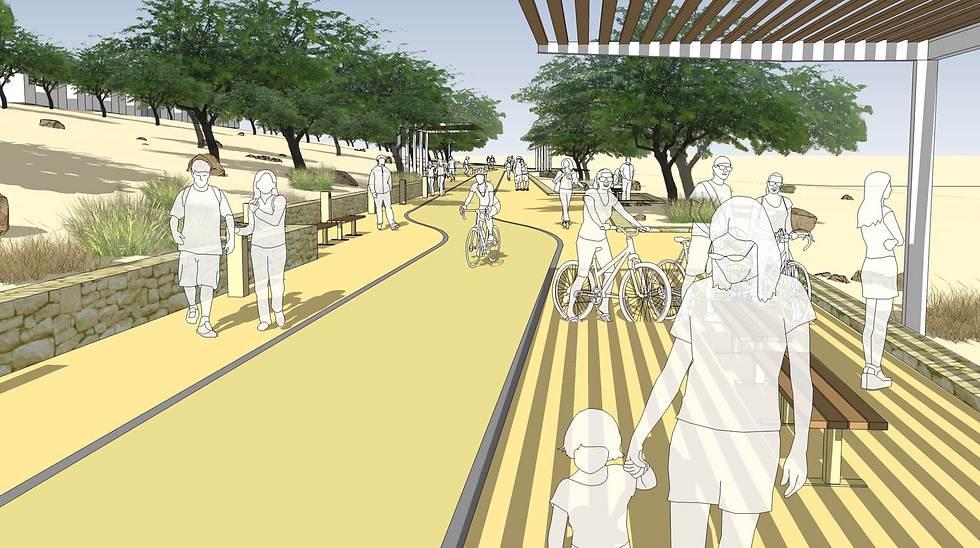 תכנון אזור הטיילת החדש (הדמיה) (הדמיה)