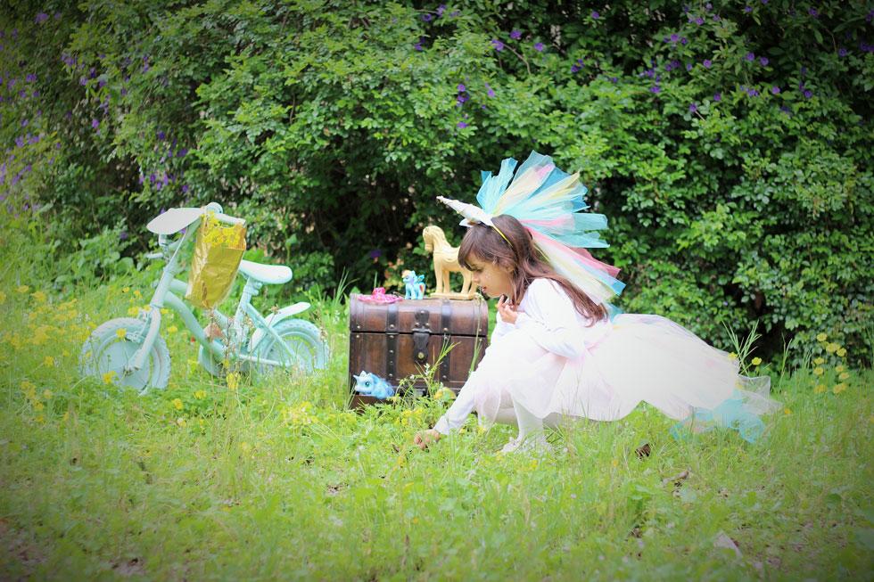 תחפושת של חד קרן בצבעי הקשת. טרנד לוהט בעולם עיצוב חדרי ילדים (צילום: ליטל כהן)