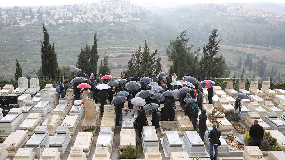 הלווייתו של רובינגר בירושלים (צילום: אלכס קולומויסקי)