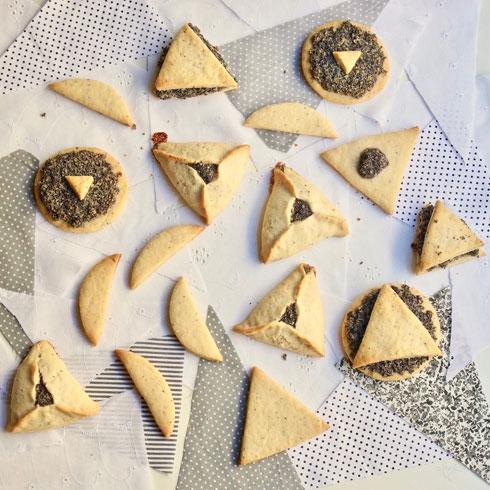 עוגיות משולש ועיגול (צילום: מירב גביש)
