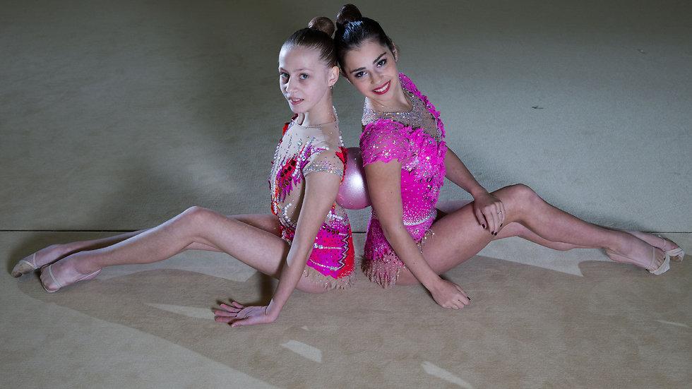 """פילנובסקי וסוטסקובה. """"הספורט הזה מאוד נשי בעיניי, יפה ועוצמתי"""" (צילום: עוז מועלם) (צילום: עוז מועלם)"""