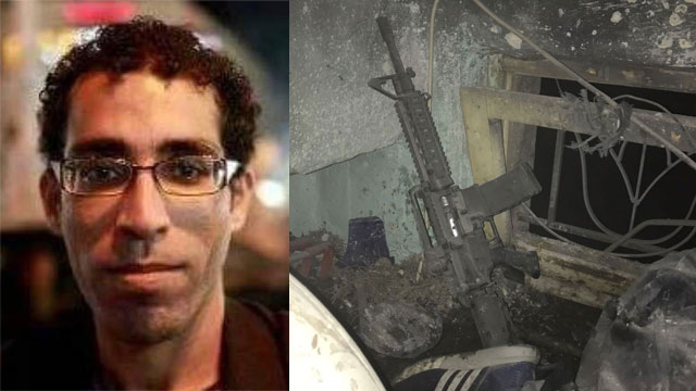 Basil al-Araj and the house where he had been hiding (Photo: IDF Spokesperson's Unit)