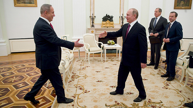 Netanyahu and Putin meet in Moscow (Photo: EPA)