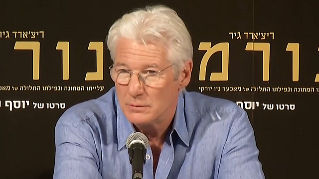 Gere in Israel. 'Has it occurred to you to say something to the Palestinians about their incitement? About the racism? The anti-Semitism? The rejectionism? (Photo: Eli Mandelbaum)