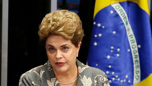 הודחה בשנה שעברה בגין הפרת חוקי התקציב. נשיאת ברזיל דילמה רוסף (צילום: gettyimages)