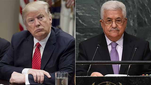 Trump and Abbas (Photo: AFP)