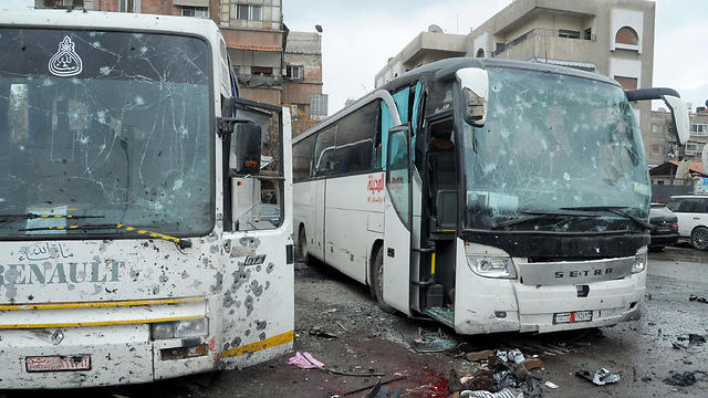 Scene of Saturday's double suicide bombing (Photo: EPA)