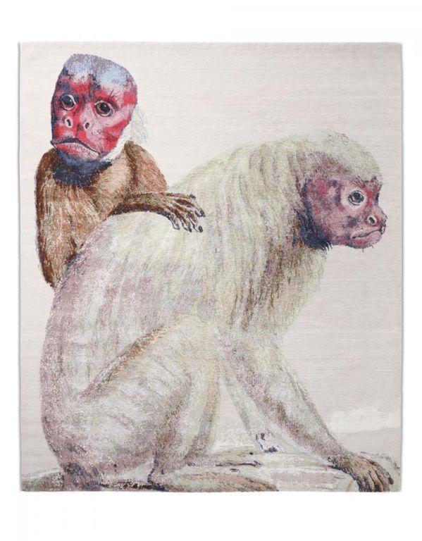 הדפסי חיות - חזק באופנה. שטיח עם הדפס קופים (צילום: מיכאל שיף, באדיבות צמר פאשן בוטיק) (צילום: מיכאל שיף, באדיבות צמר פאשן בוטיק)