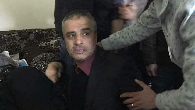 Ahmad Daqamseh after his release