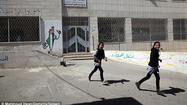 File photo of Palestinian school in Hebron