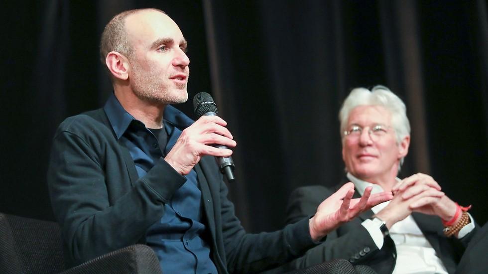 ריצ'ארד גיר ויוסף סידר (צילום: רפי דלויה)