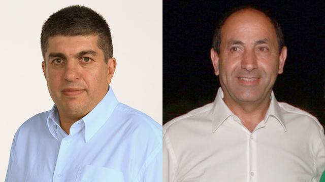 רמי לוי (מימין) וראש המועצה, יורם שמעון (צילום: דנה קופל)