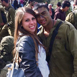Noam Bar and St.-Sgt. Tal Yifrah