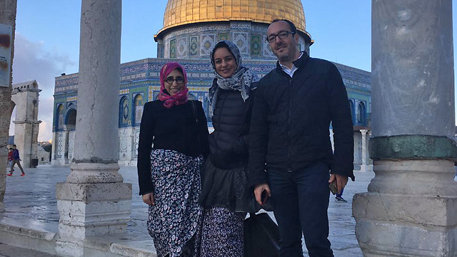 Bloggers visiting the Temple Mount